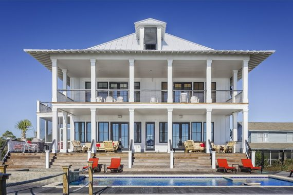 Large White House With A Pool
