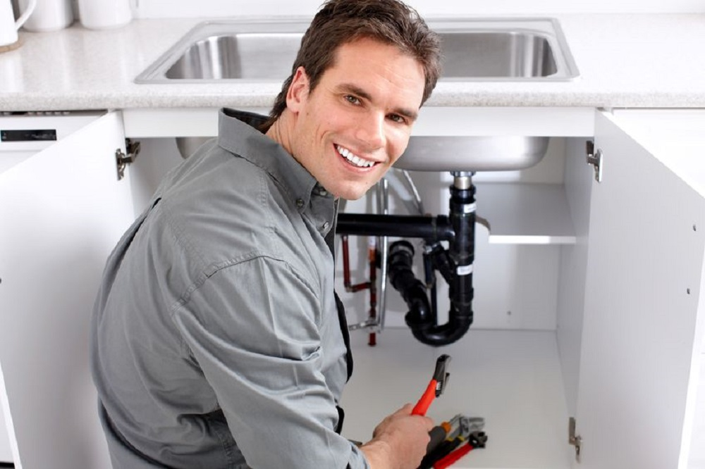 Plumber Working On A Sink